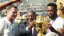 [Photos] Ramaphosa et les Sud-Africains célèbrent leurs champions du monde de rugby