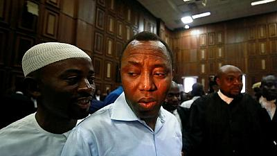 Gunshots at protest demanding release of Nigeria's #RevolutionNow leader