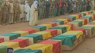 Mali holds funeral service for 30 slain soldiers
