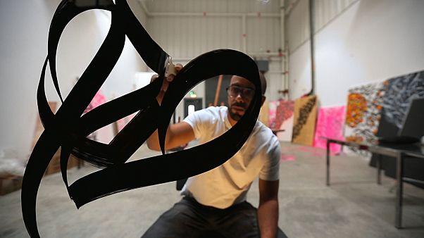 Abu Dhabi Art spotlights French-Tunisian calligraffiti artist El Seed