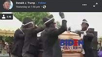 Trump mocks Biden with viral Ghanaian coffin dancers
