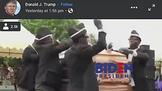 Trump mocks Biden with viral Ghanaian coffin dancers