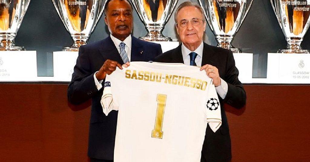 Espagne : le président Sassou Nguesso dans l'antre du Real Madrid