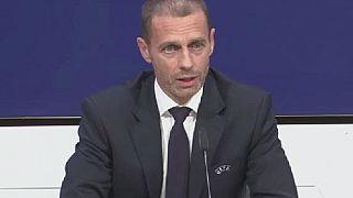 Le président de  l'UEFA critique la VAR