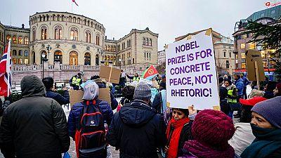 Eritrean protest hits Ethiopia PM in Stockholm: 'Nobel Prize ... not rhetoric!'