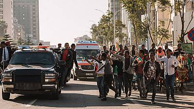 Ethiopians give PM hero's welcome after receiving Nobel award