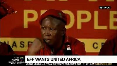 'United States of Africa' must happen - South Africa's Malema reiterates