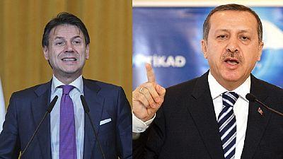 """Libye : Erdogan et Conte veulent un cessez-le-feu """"durable"""""""