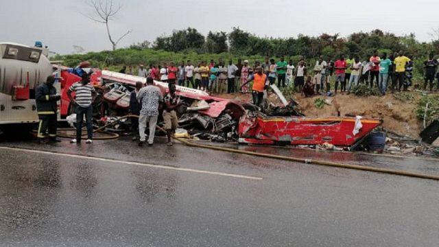 Ghana : 34 morts dans un accident à Takoradi
