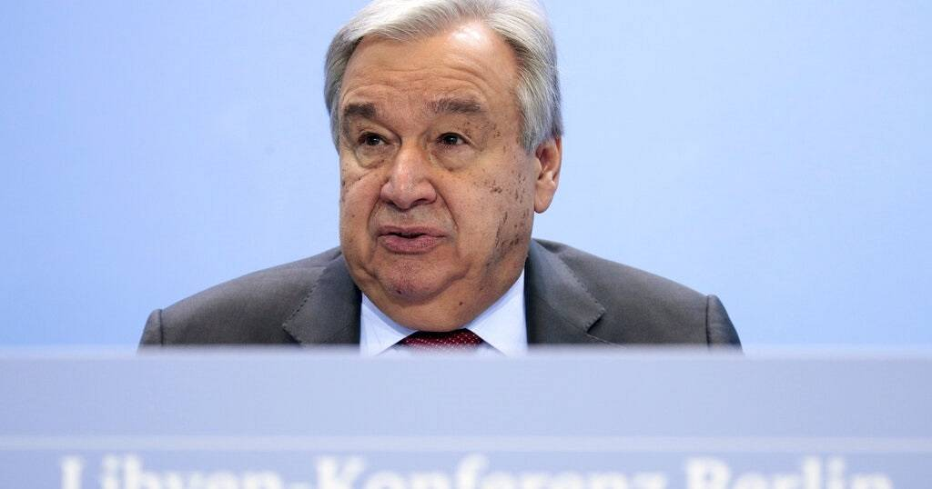 U.N. chief urges Libyan factions to firm up ceasefire deal
