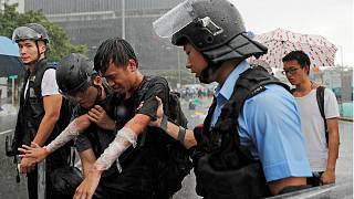 Police clashed with the protesters