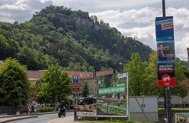 Wahlplakate in Königstein im Taunus