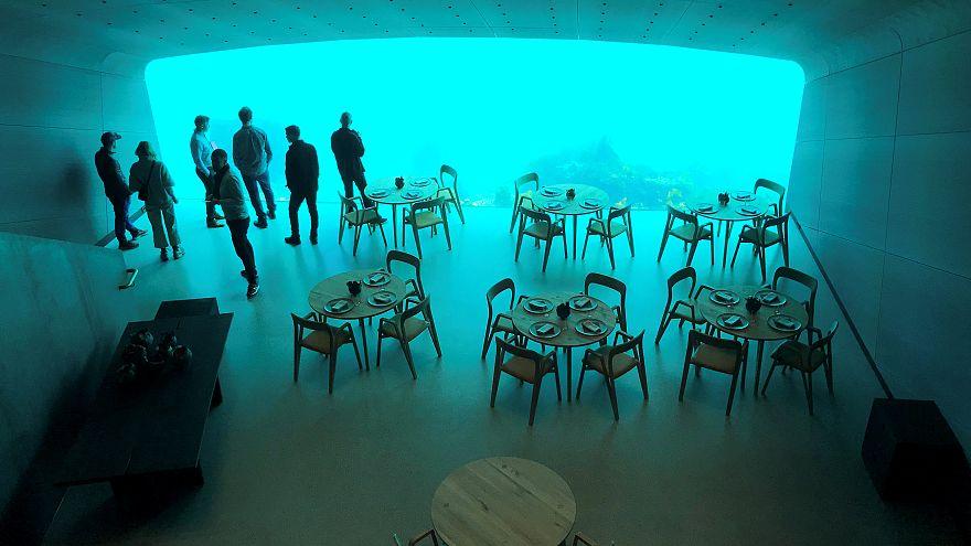 """Premier restaurant """"sous-marin"""" d'Europe ouvert en Norvège."""