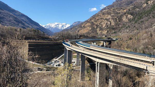 Il cantiere per il tunnel geognostico di Chiomonte