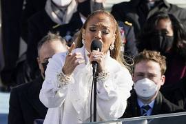 Jennifer Lopez sings during the 59th Presidential Inauguration at the U.S. Capitol in Washington. January 20, 2021