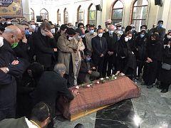 مراسم اقامه نماز بر پیکر محمدرضا شجریان، بهشت زهرای تهران