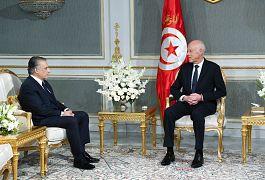 قيس سعيد مع نبيل القروي رئيس حزب قلب تونس