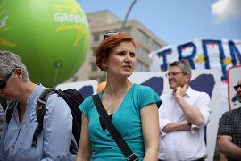 Linke-Chefin Katja Kipping auf Pro-Europa-Demo in Berlin