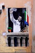 نقاشی دیواری از ماتئو سالوینی درباره انتخابات پارلمان اروپا