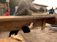 A young carpenter tells us 'I'm ok now because I am working, nothing can defeat me now'