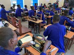 At Tindoka vocational training centres, boys and girls released from the army learn trades in hopes of a better future