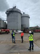 Euronews team filming at Omrin: the Dutch waste recycling plant got the award of the Netherland's most sustainable company (2019)