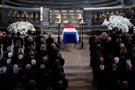 Le cercueil de Jacques Chirac dans l'église Saint-Sulpice à Paris