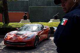 A Chevrolet Corvette Stingray, 2015 heading for auction in Mexico.