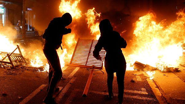 جانب من مظاهرات كتالونيا