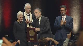 Francis Ford Coppola receiving the Lumière award 2019