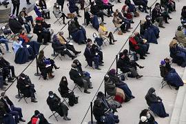 Social distanced guests of the 59th Presidential Inauguration at the U.S. Capitol in Washington. January 20, 2021