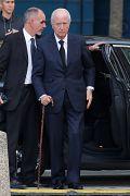 Edouard Balladur arrive à l'église Saint-Sulpice pour la cérémonie funéraire de Jacques Chirac