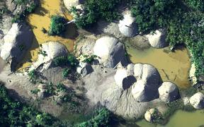Illegal mining in Peru