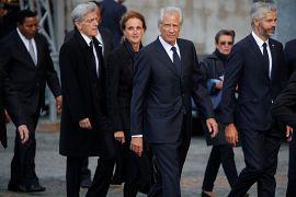 Dominique de Villepin arrive à la cérémonie funéraire de Jacques Chirac