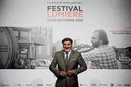 French actor and film director Daniel Auteuil poses during the opening ceremony of the 11th edition of the Lumiere Film Festival in Lyon, central eastern France, on October 12