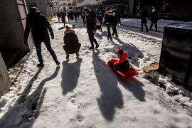 Los niños pudieron descubrir la nieve