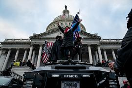 Supporters of US President Donald Trump protest outside the US Capitol in Washington, USA. January 6, 2021