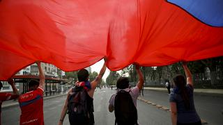 Manifestation au Chili, le 24 octobre 2019