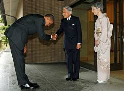 With former US. President Barack Obama at the Imperial Palace - 2009