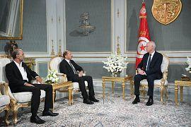 قيس سعيد مع محمد عبو أميع عام التيار الديمقراطي