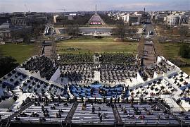 Guests and spectators attend the 59th Presidential Inauguration for President Joe Biden at the U.S. Capitol in Washington. January 20, 2021