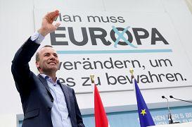 CDU/CSU-Spitzenkandidat im Wahlkampf in Wien
