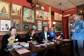Election staff in Schveningen, Netherlands