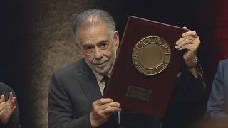 Francis Ford Coppola recevant le Prix Lumière lors du festival Lumière 2019