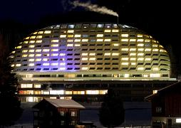 The hotel Intercontinental is seen in Davos, Switzerland. US President Donald Trump is due to stay at the hotel for one night during his two-days visit.