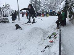 Competiciones de ski en Pozuelo de Alarcón, Madrid, España, el 9 de enero de 2021.
