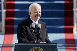 President Joe Biden speaks during the 59th Presidential Inauguration at the U.S. Capitol in Washington. January 20, 2021