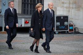 Alain Juppé arrive pour la cérémonie funéraire de Jacques Chirac