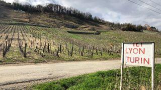 The high-speed railway will pass through this vineyard in Chapairellan