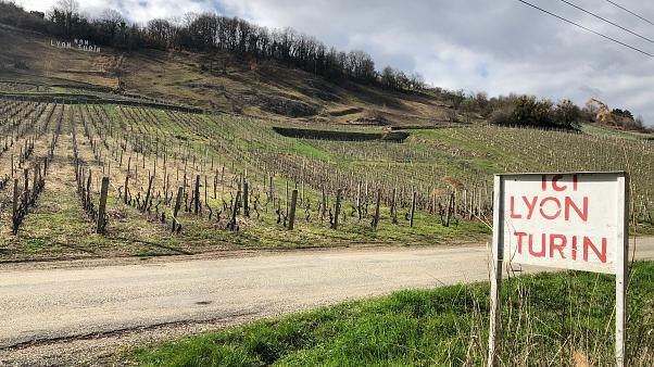 The high-speed railway will pass through this vineyard in Chapairellan